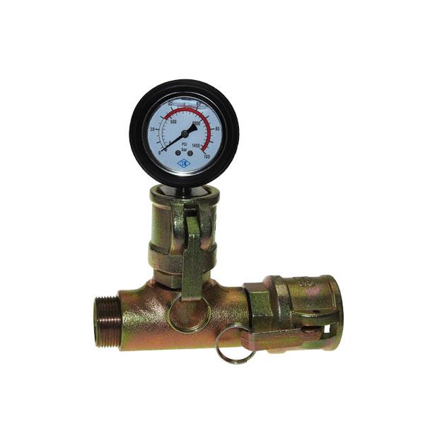 Mörteldruckmanometer mit Mörtelkupplung Mutterteil und Außengewinde