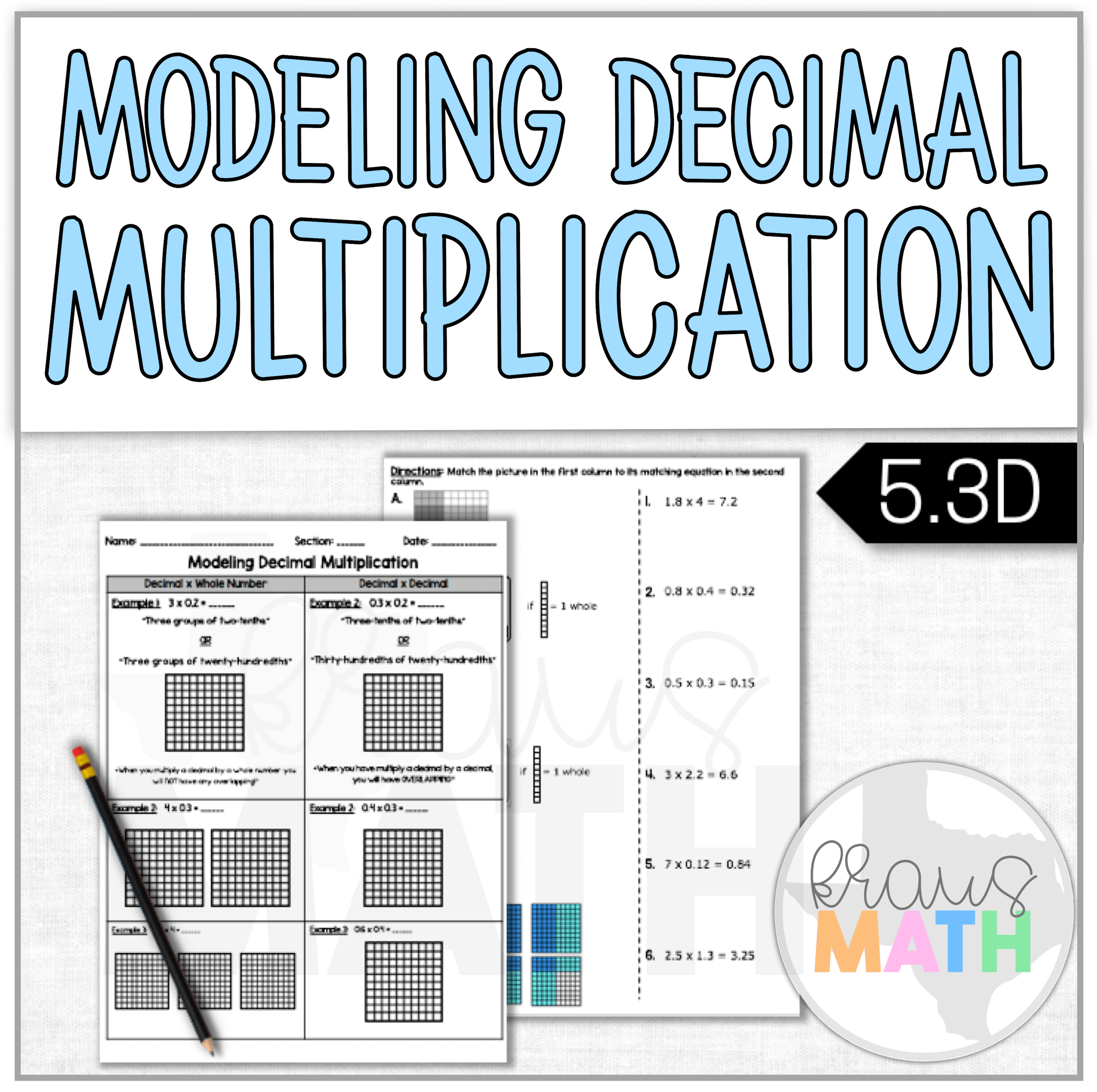 Multiplying Decimals By Whole Numbers Worksheet Grade 5