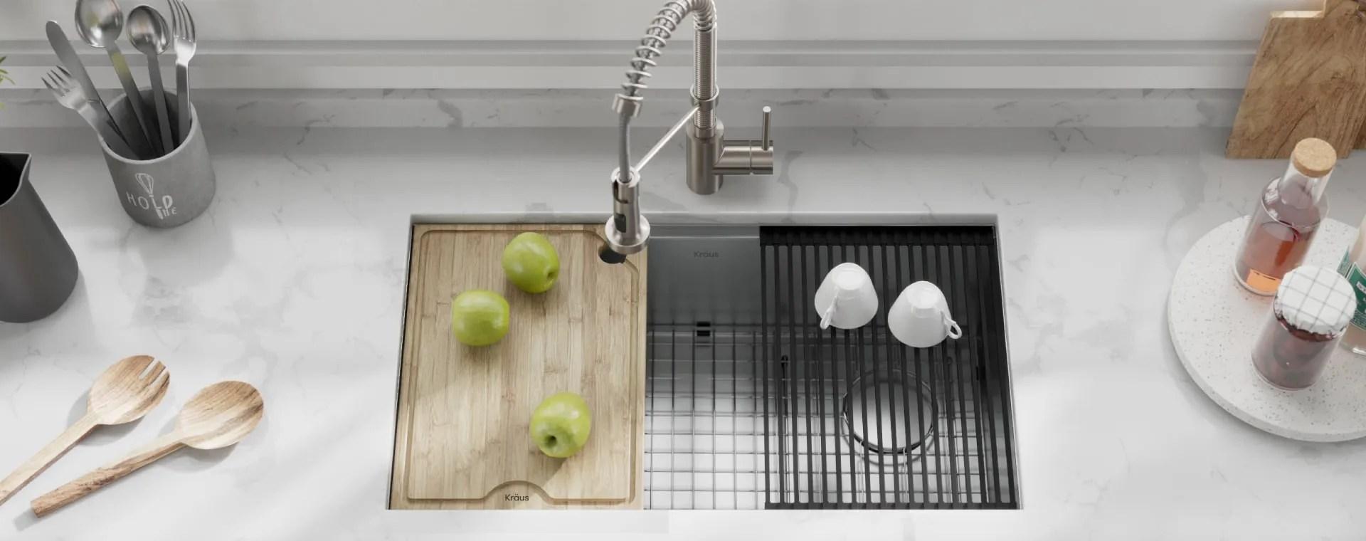 kraus usa workstation sinks kitchens