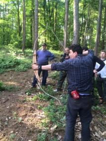 stage survie krav maga bruxelles enfants et parants kids adultes activité tir à l'arc dans les bois