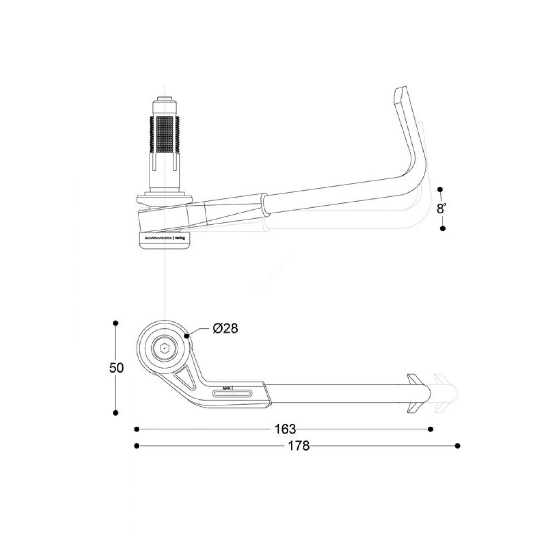 Protection De Levier Reglable Reversible Barracuda Pro