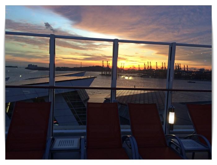 Sunset Main Pool Deck