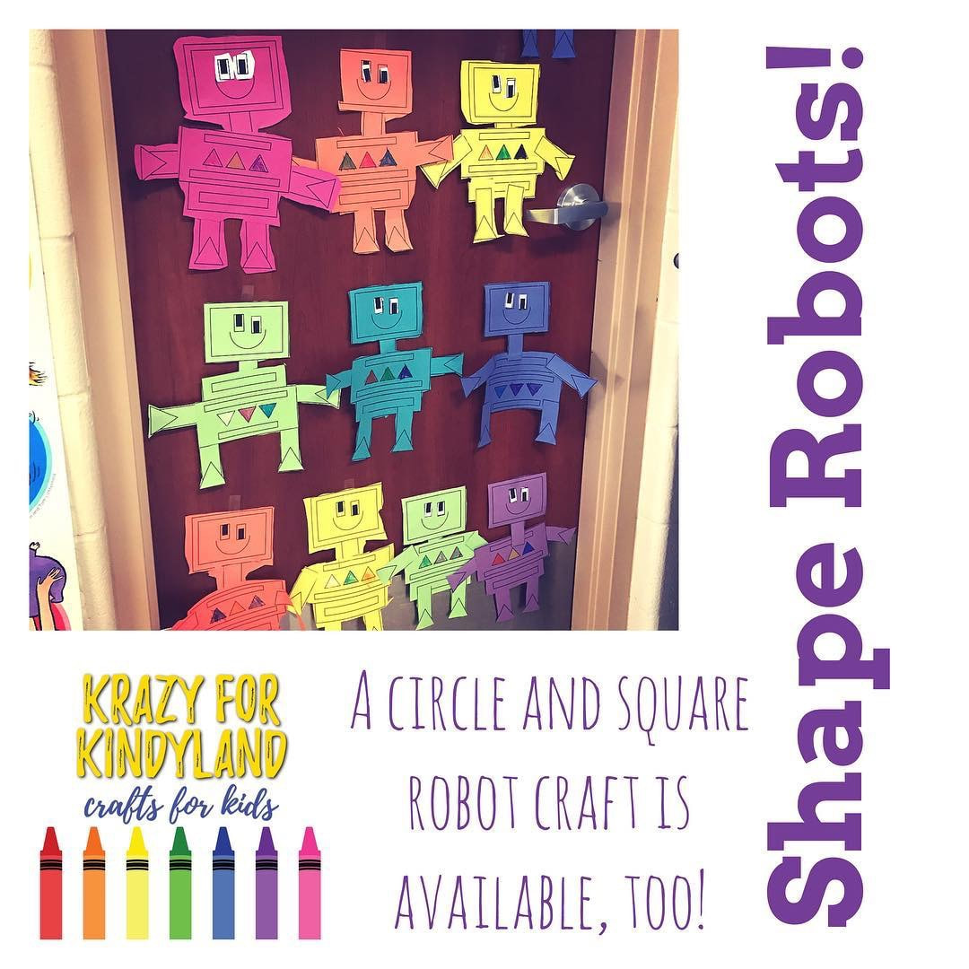 Triangle And Rectangle Robot Kindergarten Arts And Crafts