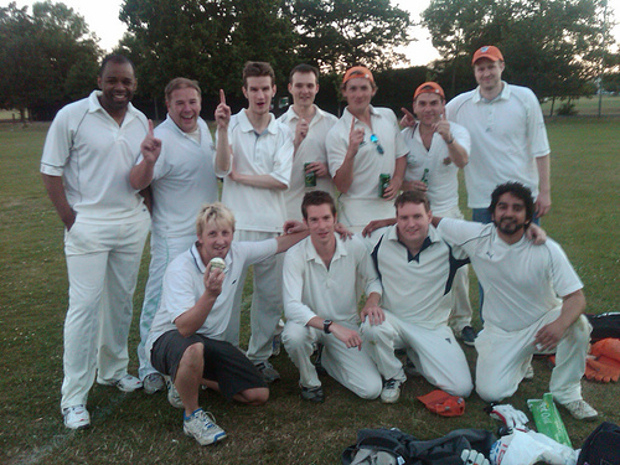 Cracking win ... the team after