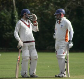 Great stand ... Dean and Dan S between overs at Ferring CC
