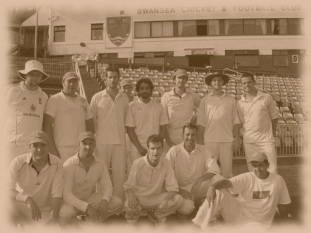 It's us ... the Battersea-based King's Road Cricket & Social Club back in the day