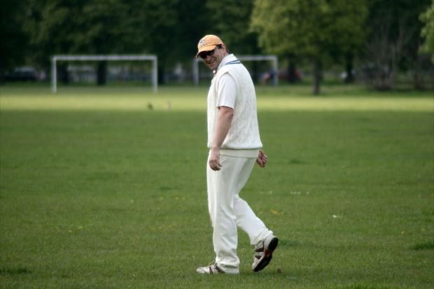Strike bowler ... Hughesy was the star with the ball taking two wickets