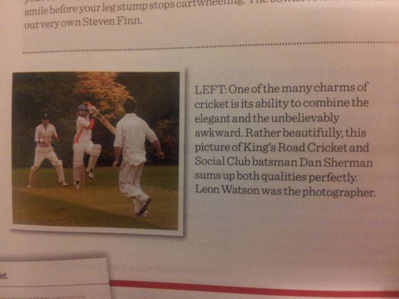 Dancing Shermy makes it into All Out Cricket magazine