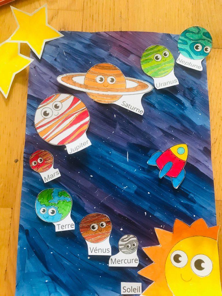 Activité sur le système solaire pour enfant