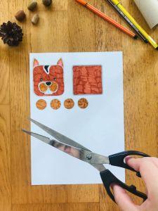 Activité manuelle écureuil pour enfant