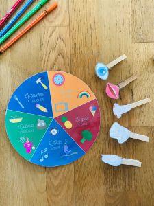 Activité sur les 5 sens pour enfant
