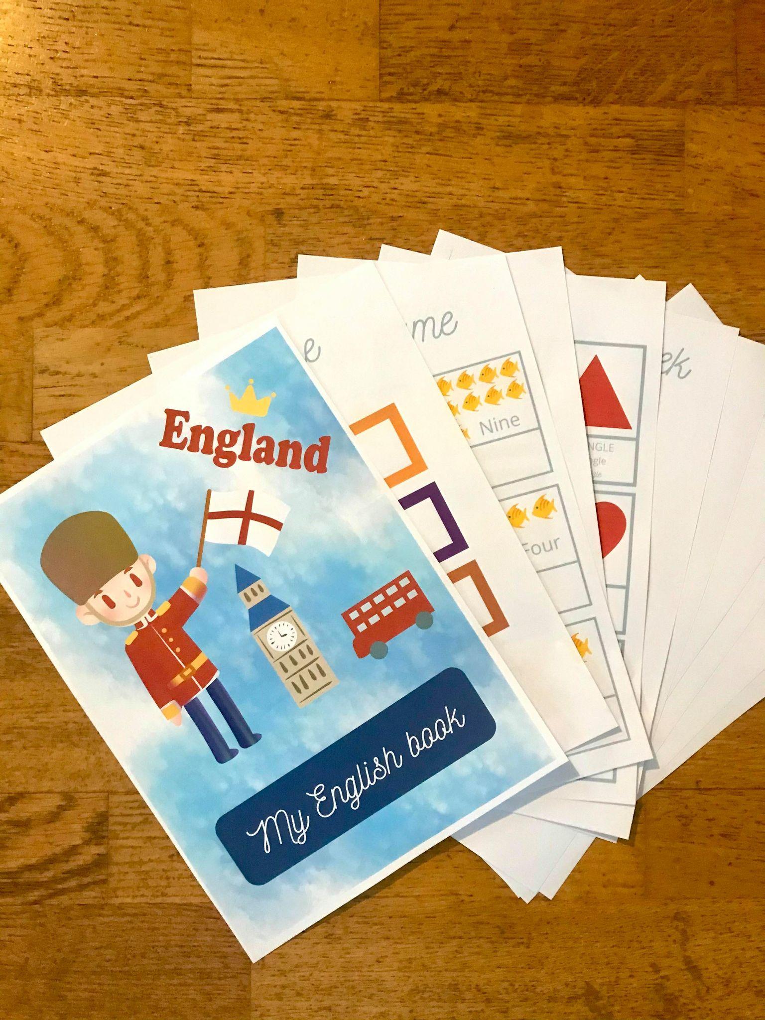 Activité d'initiation à l'anglais pour enfant