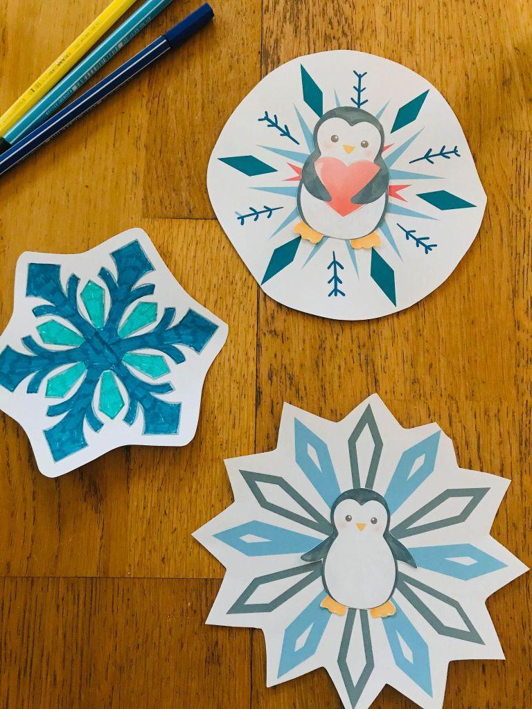 Flocon de neige à colorier