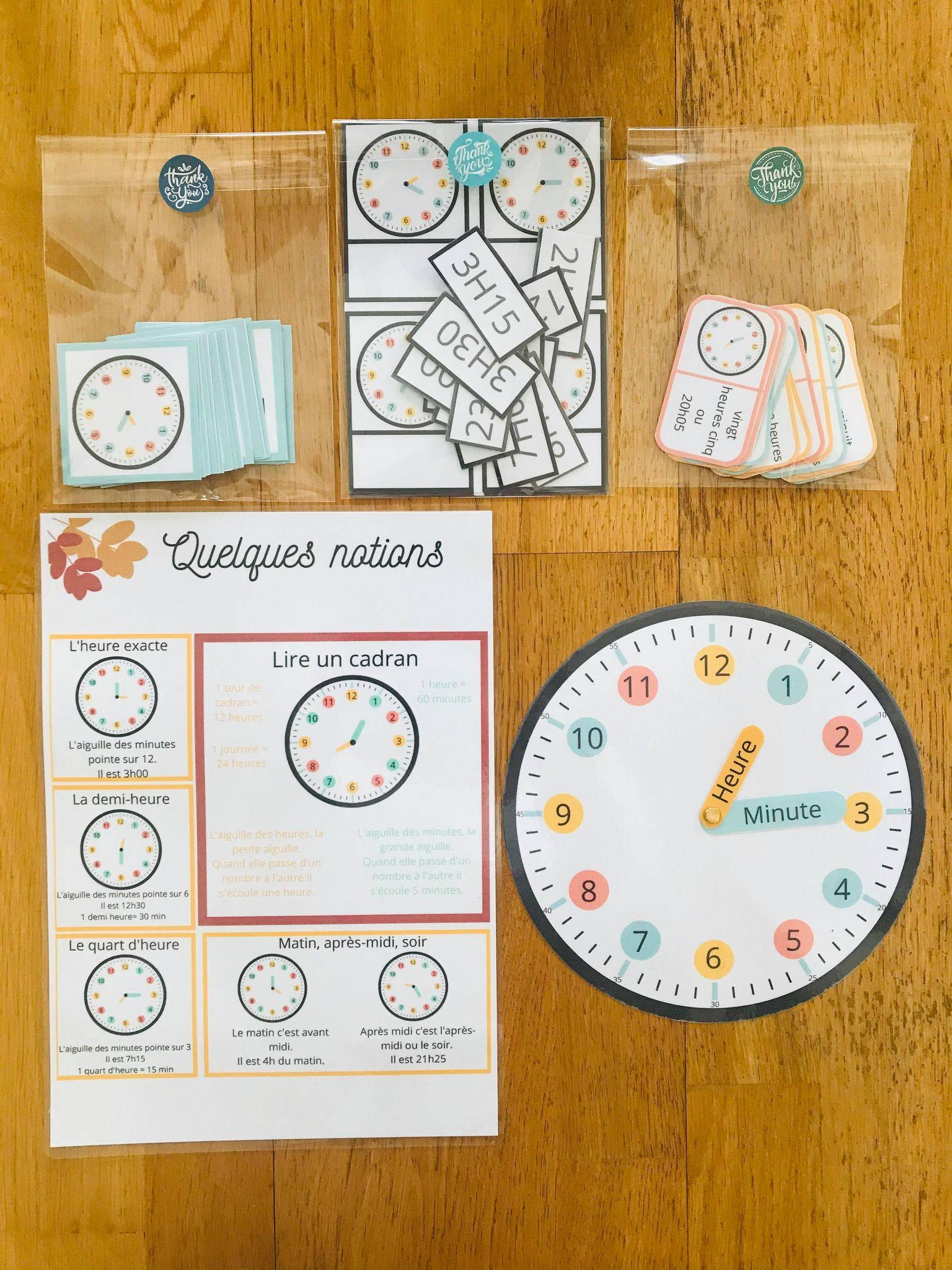 Jeux pour enfant pour apprendre l'heure