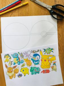 Activité manuelle pokémon pour enfant