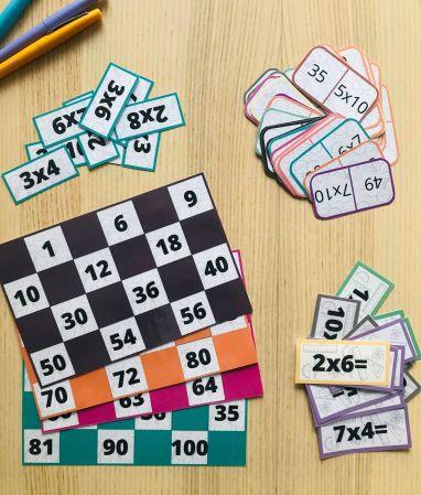 PDF pack de jeu pour apprendre les tables de multiplication