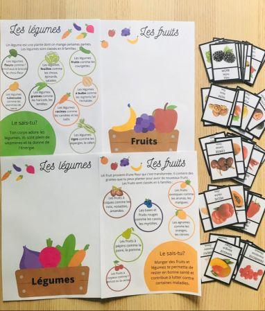 Jeu sur les fruits et légumes pour enfant