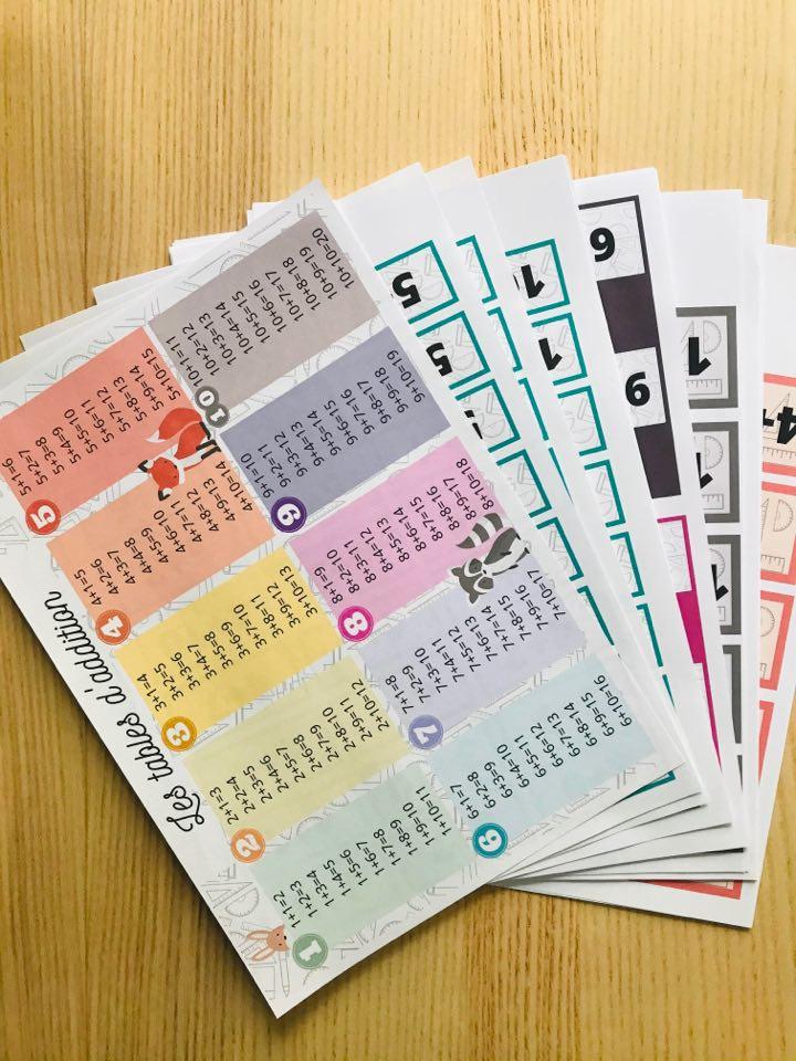 jeux pour apprendre les tables d'addition