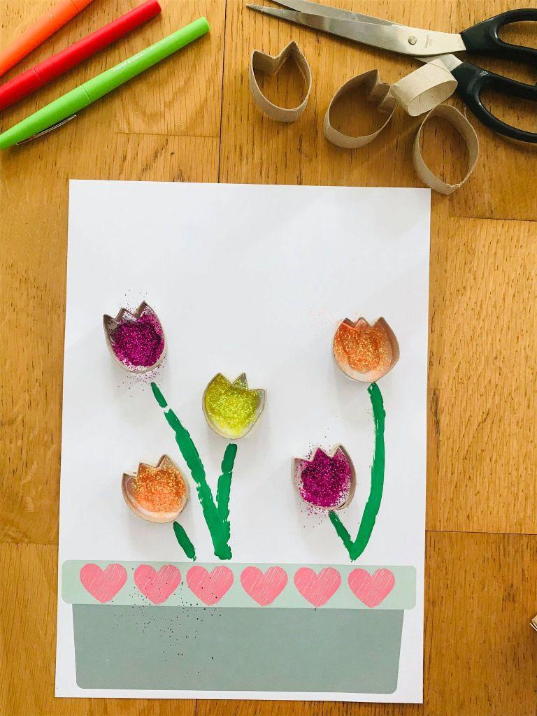 Activité manuelle tulipe pour enfant