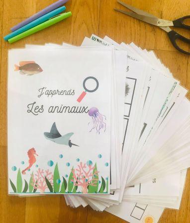 PDF quiet book sur les animaux