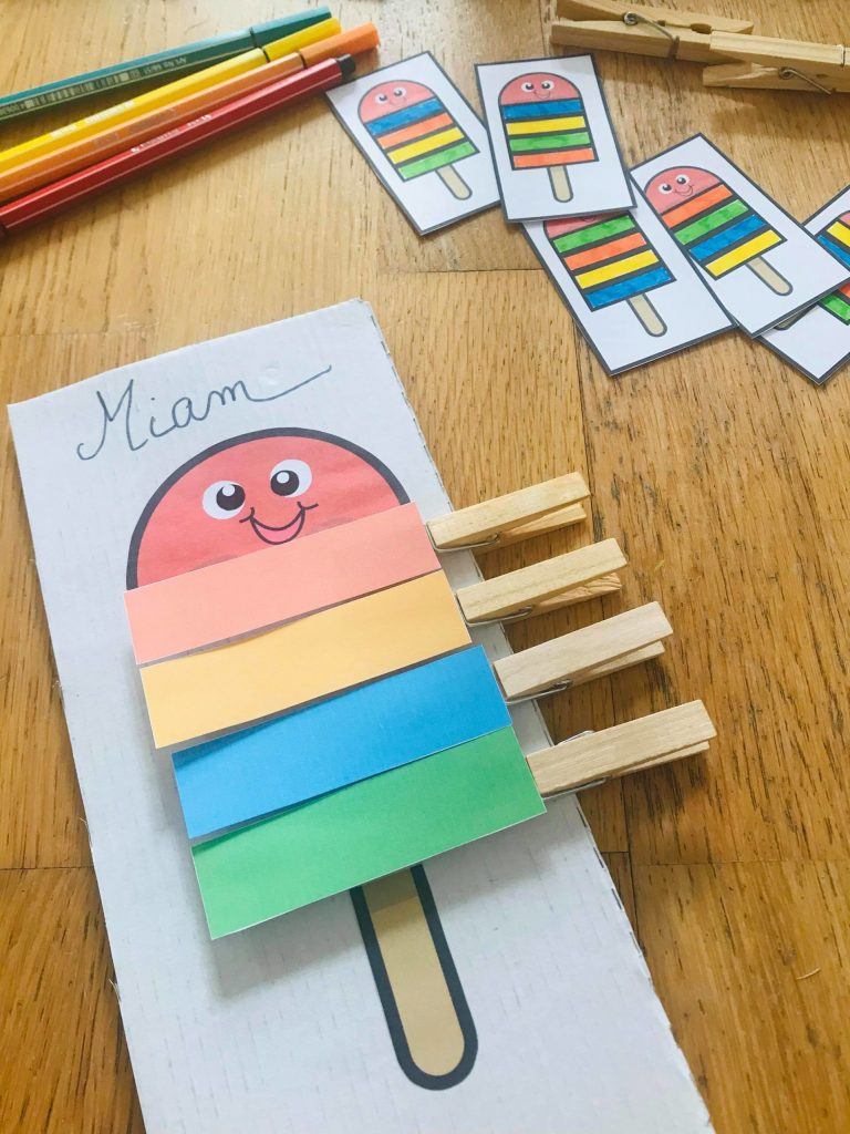 Apprentissage des couleurs pour enfant