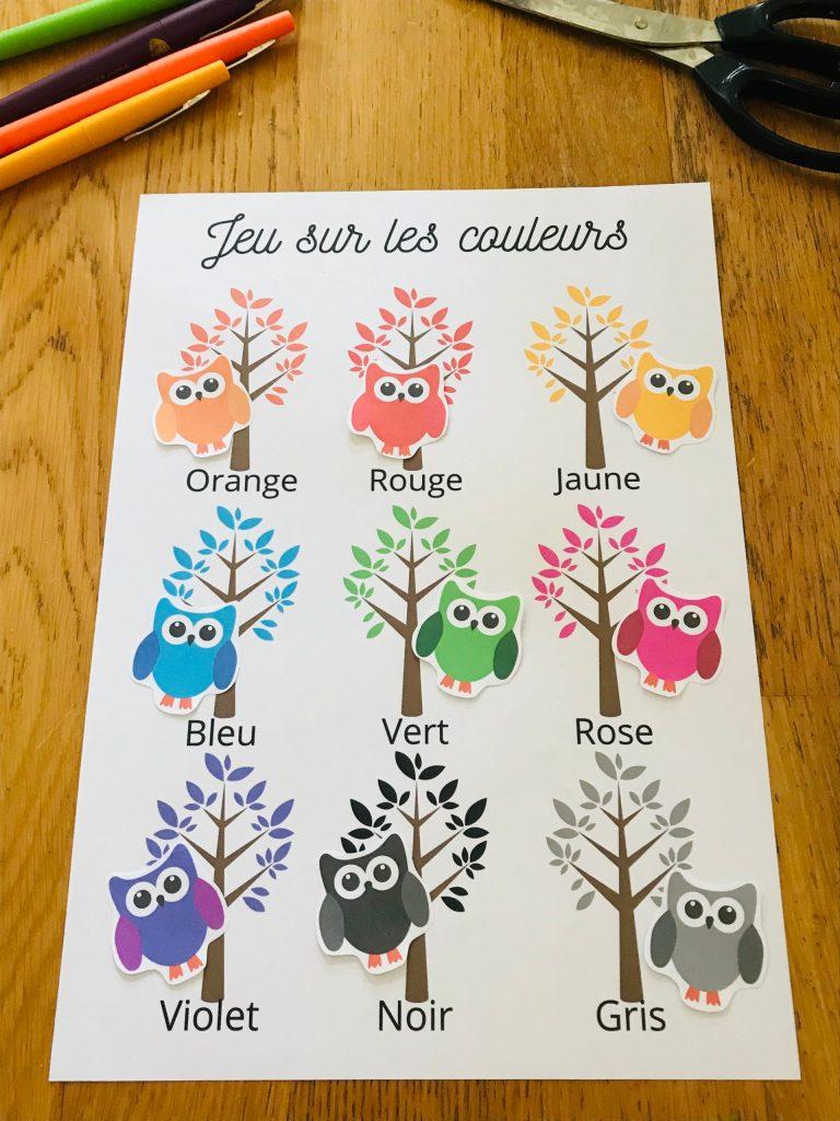 Jeu pour apprendre les couleurs