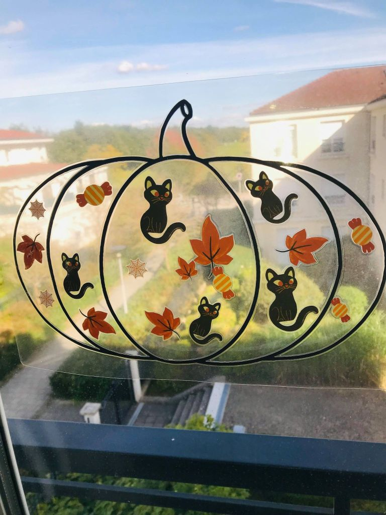 Décoration de fenêtre pour halloween