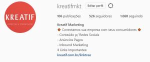 bio no instagram