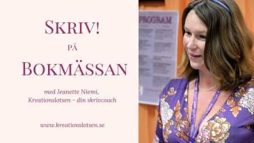 Skrivcoach Jeanette Niemi, skrivcoach på Kreationslotsen.