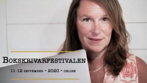 Event Bokskrivarfestivalen 2020 Jeanette Niemi, Kreationslotsen din skrivcoach och Skrivradion