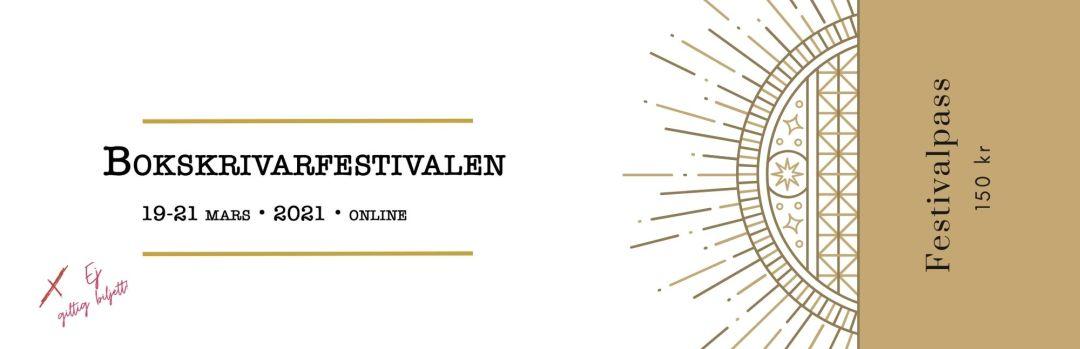 Festivalpass Bokskrivarfestivalen 2021