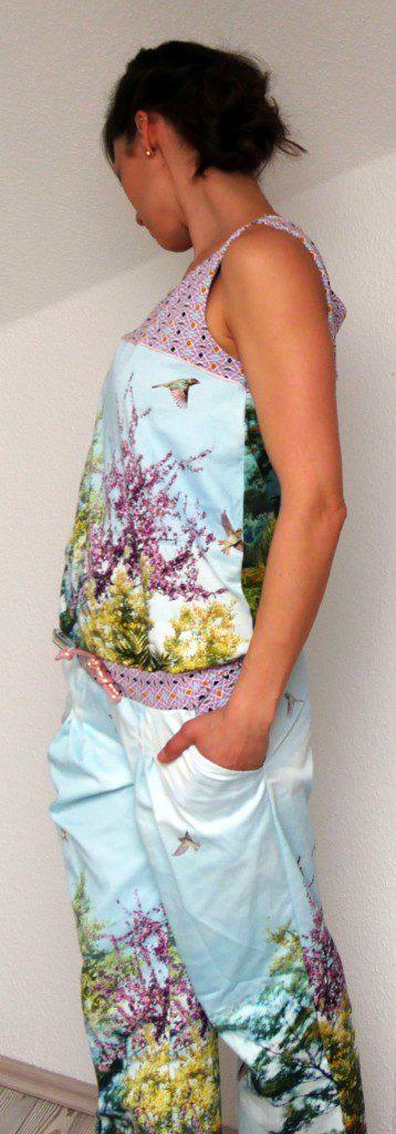 Jumpsuit Julika von Prülla aus Baumwollstoff mit versehenem Fotodruck