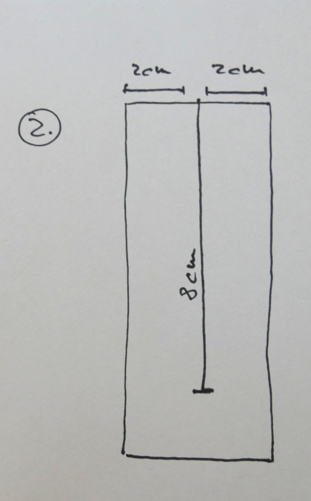 Einzeichnen des Schlitzes auf der Vliesseite