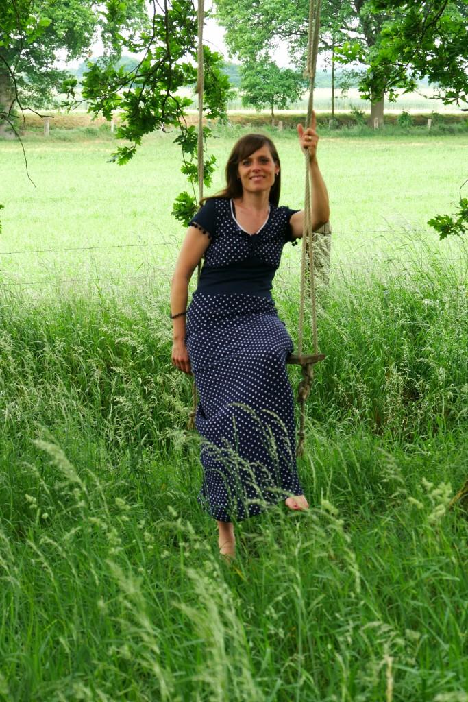 FinasSummerDress Stoffolino Viscose-Feinkrepp bodenlanges Sommerkleid