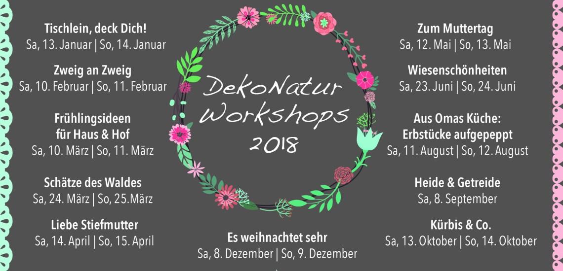 DekoNatur Workshops auf dem Kreativhof in Kunrau