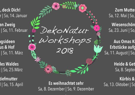 DekoNatur Workshops auf dem Kreativhof in Kunrau