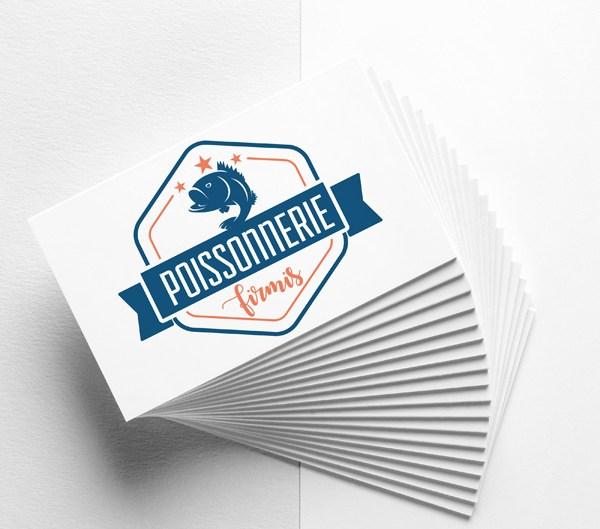 Cédric Darrigrand Graphiste Mimizan Landes 40 - Carte de visite - Poissonnerie Firmis