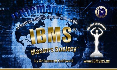 Niemand schafft es alleine - darum gibt es die IBMS® Masters Society