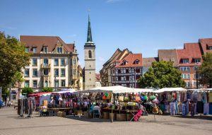 Deutschland - Erfurt - Wochenmarkt Domplatz