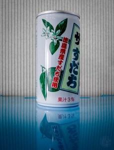 Zitrusfrucht Getränk Sudachi