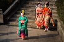 Japan - Kyoto - Kyoto - 3 Frauen in Kimono