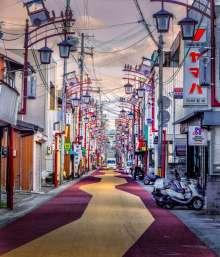 Japan - Wajima - Kii-Tanabe - Eine Strasse