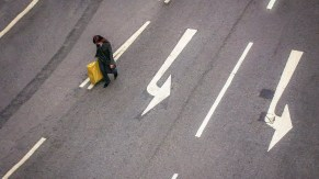 Street Photography - Hong Kong - Follow the Arrow or Not