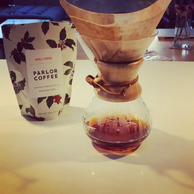 Fresh #parlorcoffee brewing