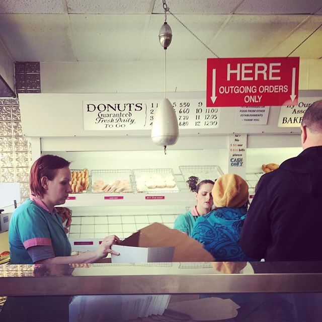 A shopping experience that hasn't changed in 50 years #backintime #donuts #greenpoint #brooklyn