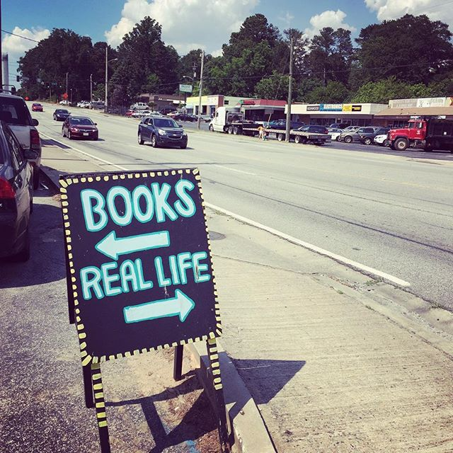 Real life is a strip mall in Atlanta #books #life #atlanta