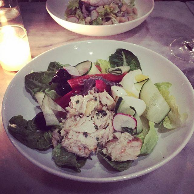 Very well arranged Nicoise #datenight #saladnicoise