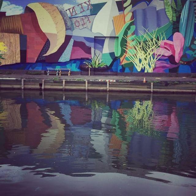 Beautiful dirty water #gowanus #brooklyn