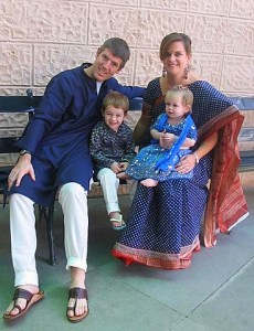 A family pic in our Indian dress at our new school--ASB