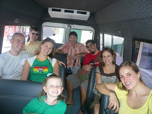 We rented a school van for easy transport around South Bombay.  Our mini-van followed with all the purchases.